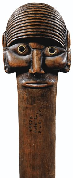 """Staff of Authority, Easter Island, 136 cm long (53 1/2""""). Acquired from the collection of Ernst von Sieglin by the Linden Museum, Stuttgart, 1905"""
