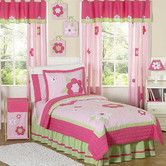 Found it at Wayfair - Flower Pink and Green Kid Bedding Collection