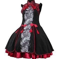 Partiss Damen Sweet Lolita Aermellos Stehkragen Knielang Ruffles Klassische Kleider Lolita Cheongsam Cosplay Kostuem Lolita Kleid mit Tassel Partiss http://www.amazon.de/dp/B018HLC4D4/ref=cm_sw_r_pi_dp_Hhsvwb0PYGXK6