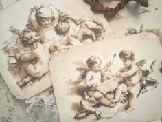 SHABBY FRENCH CHERUB Gift Tags no 6b  Cherubs  by theporcelainrose, $5.99