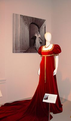 Maria Callas' stage costume in 'Tosca' G. Puccini - wearing it at Covent Garden