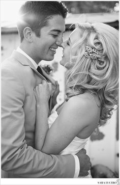 Favorite black and white of bride and groom