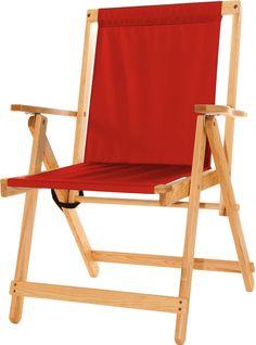 Highlands Deck Chair - Red