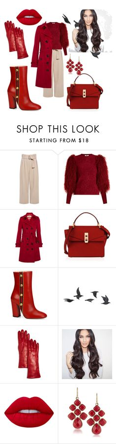 """""""Untitled #546"""" by domla ❤ liked on Polyvore featuring A.L.C., Sonia Rykiel, Burberry, Henri Bendel, Gucci, Jayson Home, Bloomingdale's, Lime Crime and 1st & Gorgeous by Carolee"""