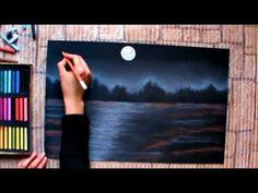 Winter landscape art lesson chalk pastels ideas for 2019 Chalk Pastel Art, Soft Pastel Art, Chalk Pastels, Soft Pastels, Landscape Art Lessons, Landscape Drawings, Landscape Paintings, Oil Pastel Paintings, Oil Pastel Drawings