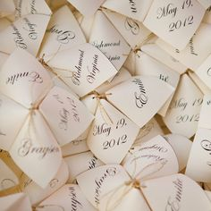Cootie Catcher Programs // photo by: Kellan Studios // Programs: Michaels Arts & Crafts More from this Southern, vintage wedding: http://www.theknot.com/weddings/album/a-southern-vintage-wedding-in-richmond-va-130714