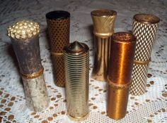 Umm....... Excuse me look how awesome these vintage lipstick tubes are