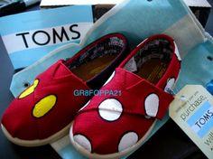 Custom Toms Toddler Kids Shoes Minnie Mickey | eBay