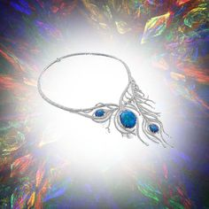 Boodles peacock feather necklace
