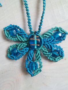 Excited to share the latest addition to my #etsy shop: Macrame neclace http://etsy.me/2CbXPk2 #jewelry #necklace #macrame #neclace #flower #macrameneclace #macrameflower #blue #green
