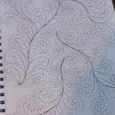 Sharing a page from my sketchbook...developing new designs to quilt and teach.....when I can't quilt.... I draw...loving this new meander design#freemotionquilting