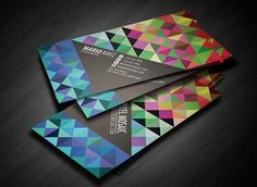 Colorful business card design 2