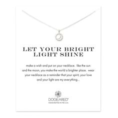 let your bright light shine sun and moon necklace, sterling silver - Dogeared
