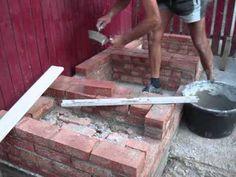 Gratar de gradina din caramida - ziua 1/ Brick BBQ - day one - YouTube Youtube