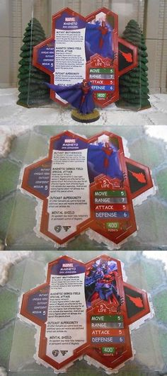 Heroscape Custom Super-Skrull Double Sided Card /& Figure w// Sleeve Marvel