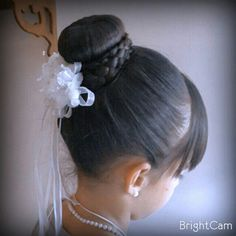 Peinado para primera comunión