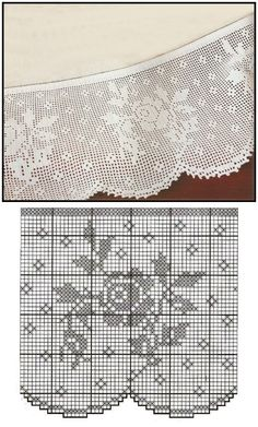Crochet Edging wide border/edging that would look nice on the hem of a bedskirt by Barbara Edwards Bartlett Crochet Lace Edging, Crochet Motifs, Crochet Borders, Thread Crochet, Crochet Stitches, Crochet Patterns, Granny Square Häkelanleitung, Granny Square Crochet Pattern, Crochet Granny
