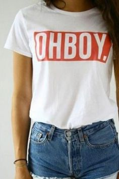 New Arrival Letter Printed Loose Leisure Round Neck Short Sleeve T-Shirt Aesthetic Fashion, Aesthetic Clothes, Tumblr T Shirt, Cool Outfits, Summer Outfits, Levis Shirt, Teen Girl Fashion, Tumblr Fashion, Cute Tops