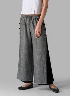 PLUS Clothing - Linen Double Layers Pants