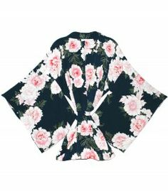 Fleur Du Mal Teal Floral Kimono - Spoil the most important woman in your world this Mother's Day with these sure-to-please pieces. http://shop.harpersbazaar.com/mother-s-day-gift-guide
