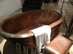 Saw this tub in the window of Ann Sacks showroom in NYC.  Love it.