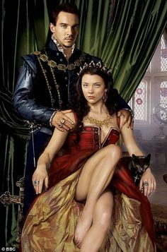 """Jonathan Rhys Meyers as King Henry VIII Natalie Dormer as Queen Anne Boleyn in """"The Tudors"""". This was a publicity shot for a contest to meet the cast the costumes were not standard to the period. Jonathan Rhys Meyers, Enrique Viii, Los Tudor, Papua Nova Guiné, Disneysea Tokyo, Michael Weatherly, King Henry Viii, Kino Film, Outlaw Queen"""