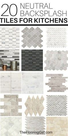 How to design a kitchen backsplash and Neutral tiles for kitchen backsplashes. When it comes to designing a kitchen, the backsplash is usually the finishing touch. It helps unify the space and add a bit of flair. These tips should make it easier. Kitchen Redo, Kitchen Tiles, New Kitchen, Kitchen Design, Kitchen Cabinets, Backsplash Ideas For Kitchen, Kitchen Stove, Room Tiles, Kitchen Island