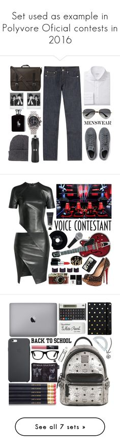 """""""Set used as example in Polyvore Oficial contests in 2016"""" by karineminzonwilson ❤ liked on Polyvore featuring A.P.C., adidas Originals, Ally Capellino, Ray-Ban, Moncler, Polaroid, Ralph Lauren, Breitling, Under Armour and men's fashion"""