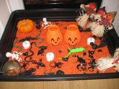 Halloween Sensory Tray | Pre-school Play