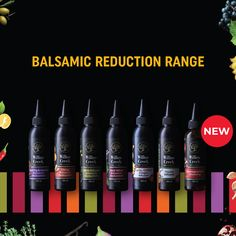 Willow Creek would like to introduce our new Balsamic Reductions Range.   We are very excited about this range and cannot wait for you guys to try all the different flavours.   Keep an eye out on our social pages this month, because we will be gifting one lucky follower with an exclusive hamper. Flavored Olive Oil, Balsamic Reduction, Willow Creek, Cooking With Olive Oil, Oxidative Stress, Best Oils, Balsamic Vinegar, Recipe Collection, Hamper