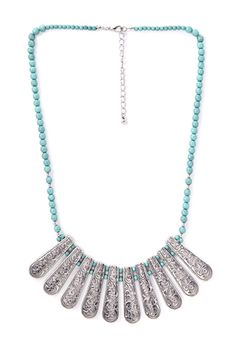 Etched Bib Necklace | FOREVER 21 - 1000068186