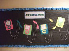 Welcome Back To School Bulletin Boards Ideas - Bing Images August Bulletin Boards, Teacher Bulletin Boards, Back To School Bulletin Boards, Classroom Board, Music Classroom, School Classroom, Classroom Themes, Teaching Music, Teaching Tools