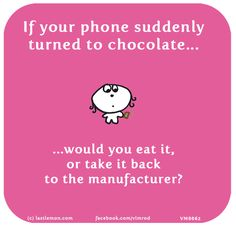 If your phone suddenly turned to chocolate, would you eat it, or take it back to the manufacturer?