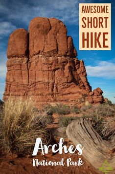 Don't miss this short family friendly hike in Arches National Park near Moab, Utah.
