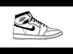 How to Draw an Air Jordan Shoe - YouTube