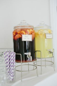 having stellar drink choices is always a must-these from an event by Curtain Up Events http://www.weddingchicks.com/vendor-guide/curtain-up-events/