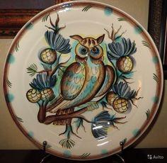 Тарелка Филин, ЗиК, Конаково, подглазурная роспись, диаметр 28,5 см, купить в Москве на Avito — 8000 руб.