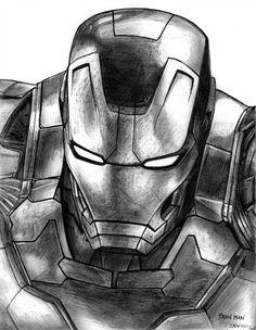marvel avengers drawing Iron Man (Avengers - Age of Ultron) by Iron Man Avengers, Marvel Avengers, Marvel Art, Drawing Cartoon Characters, Character Drawing, Cartoon Drawings, Drawing Sketches, Iron Man Kunst, Iron Man Art