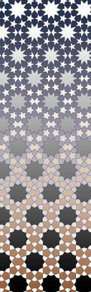 Islamic Metamorphosis LOVE!! reminds me of an Escher metamorphosis picture (birds to fish)
