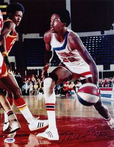 Moses Malone, 1975. Signed with the Utah Stars out of Petersburg High School - the very first player to make the direct jump from high school to the pros.