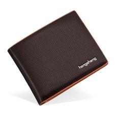 2017 New Men's leather wallet Fashion Short Bifold Men Wallet Casual Soild Men Wallets With Coin Pocket Purse Male Wallet