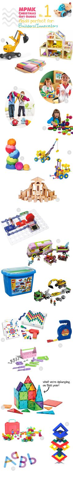 I keep hearing how important cultivating innovation is in our kids' future success.  So watching both my son and daughter excitedly engage with open-ended toys to build, construct, and explore fills my heart with joy. I'm on a mission this year to find the absolute best toys to keep the innovations coming!