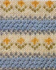 Colorwork Flowers Chart ⋆ Knitting Bee