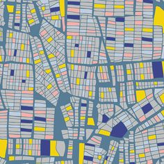 Gramercy by Leah Duncan - Manhattan's Dusk / Art Gallery Fabrics/ Modern Fabric