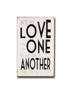 love one another vintage style painted sign by barnowlprimitives