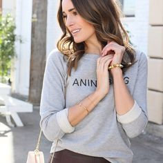 Back to work! Starting Monday off in my new fave sweater from #AnineBing #todayimwearing #ootd
