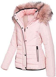 Angel of Style by Happy Size Jacke Kurz Blouson für Damen in Pink