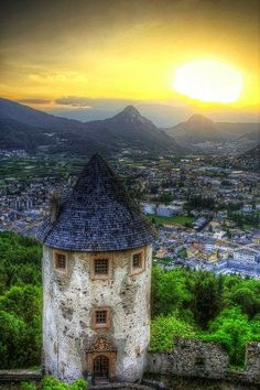 Trentino Sunset, Italy ♥ ♥ www.paintingyouwithwords.com