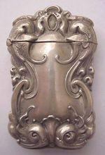 Dolphin-Griffin Motif Sterling Match Safe - Vesta  - Circa 1900