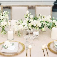 10 Wonderfully White Floral Arrangements | Deconstructed, casual and cool, this natural centerpiece is perfect for a beachfront wedding where shoes are optional and relaxing is mandatory.